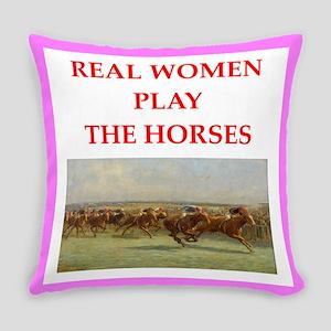 horse race Everyday Pillow