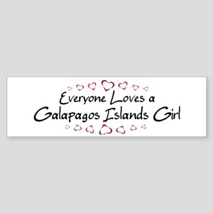 Galapagos Islands Girl Bumper Sticker