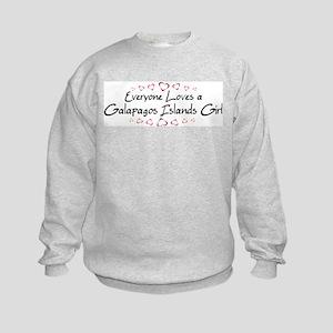 Galapagos Islands Girl Kids Sweatshirt