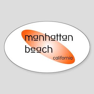 Manhattan Beach Oval Sticker
