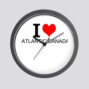 I Love Atlantic Canada Wall Clock