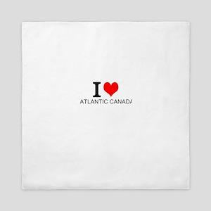 I Love Atlantic Canada Queen Duvet