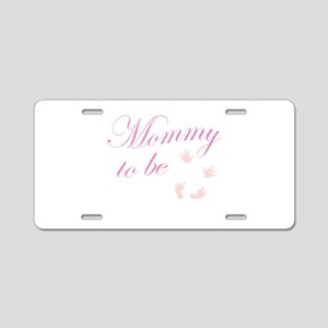 Mommy to Be Hands and Feet Pink Aluminum License P