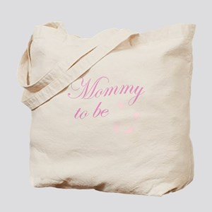 Mommy to Be Hands and Feet Pink Tote Bag