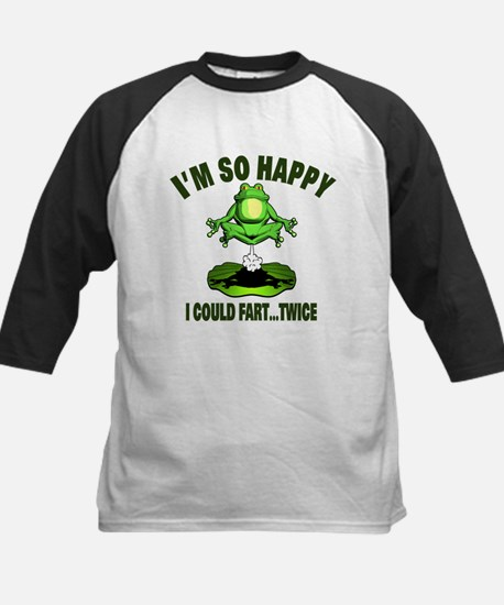 Fart Humor with Farting Frog Kids Baseball Jersey