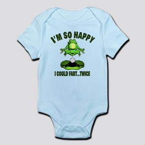 Fart Humor with Farting Frog Infant Bodysuit