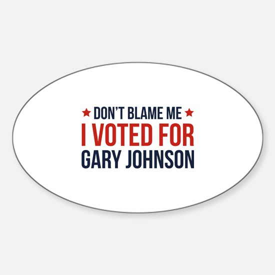 Don't Blame Me Sticker (Oval)