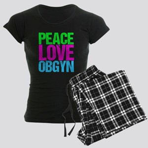 Peace Love Obygyn Women's Dark Pajamas