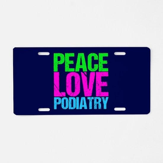 Cute Podiatry Aluminum License Plate