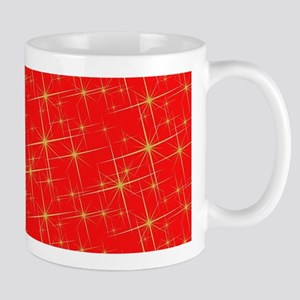 Red with gold starbursts Mugs