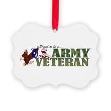 Proud US Army Veteran Ornament