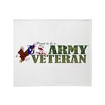 Proud Us Army Veteran Throw Blanket
