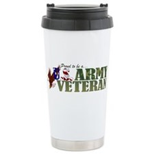 Proud US Army Veteran Travel Mug
