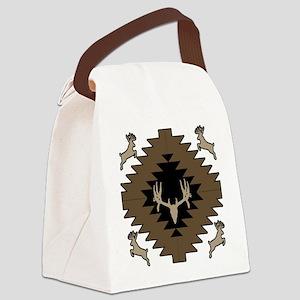 Buck deer American Indian art Canvas Lunch Bag