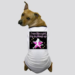 TRACK GIRL Dog T-Shirt