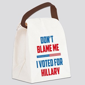 Don't Blame Me Canvas Lunch Bag