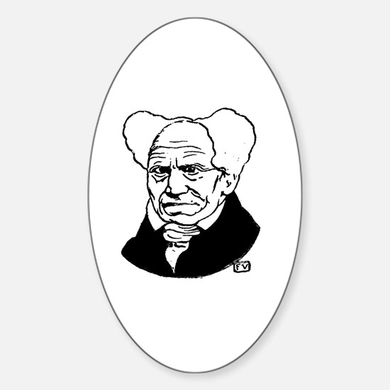 Sideburns Sticker (Oval)