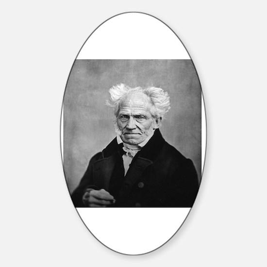 Cute Schopenhauer Sticker (Oval)