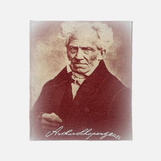 Funny Arthur schopenhauer Throw Blanket