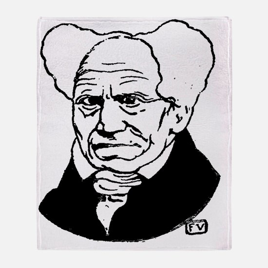 Unique Arthur schopenhauer Throw Blanket