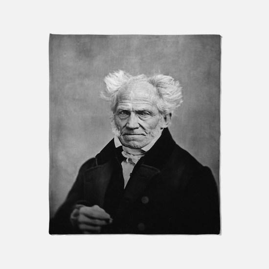 Cute Arthur schopenhauer Throw Blanket