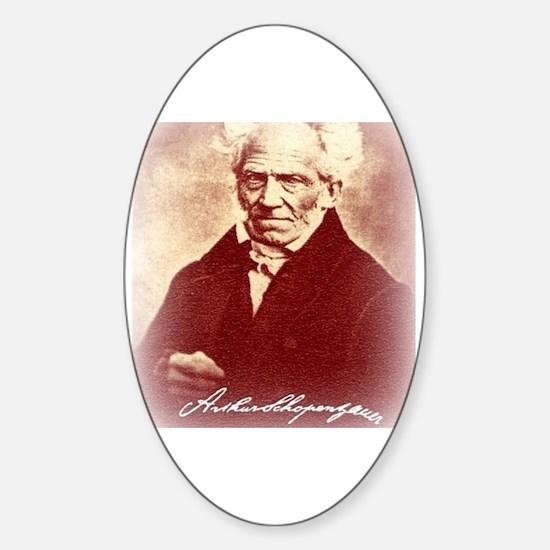 Schopenhauer Sticker (Oval)
