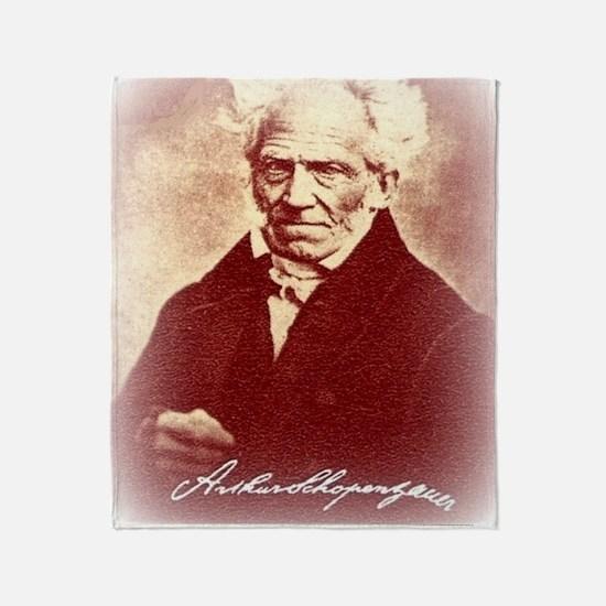 Cool Arthur schopenhauer Throw Blanket