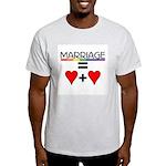 MARRIAGE EQUALS HEART PLUS HE Ash Grey T-Shirt