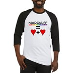MARRIAGE EQUALS HEART PLUS HE Baseball Jersey