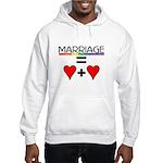 MARRIAGE EQUALS HEART PLUS HE Hooded Sweatshirt