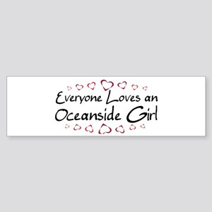 Oceanside Girl Bumper Sticker
