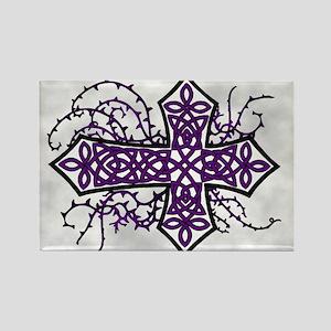 Gothic Celtic Cross Purple Magnets
