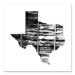 "Real Texas Square Car Magnet 3"" x 3"""