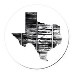 Real Texas Round Car Magnet