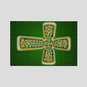 Teardrop Celtic Cross Green Magnets