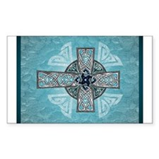 Traditional Celtic Cross Turquoise Sticker