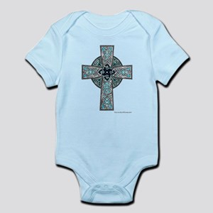 Traditional Celtic Cross Turquoise Body Suit