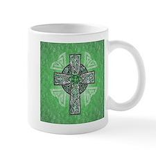 Traditional Celtic Cross Green Mugs