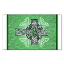 Traditional Celtic Cross Green Sticker