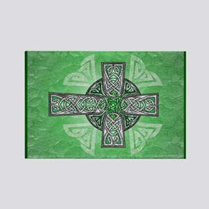 Traditional Celtic Cross Green Magnets