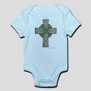Traditional Celtic Cross Green Body Suit