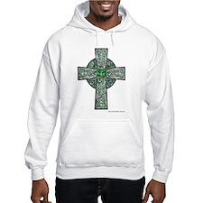 Traditional Celtic Cross Green Hoodie