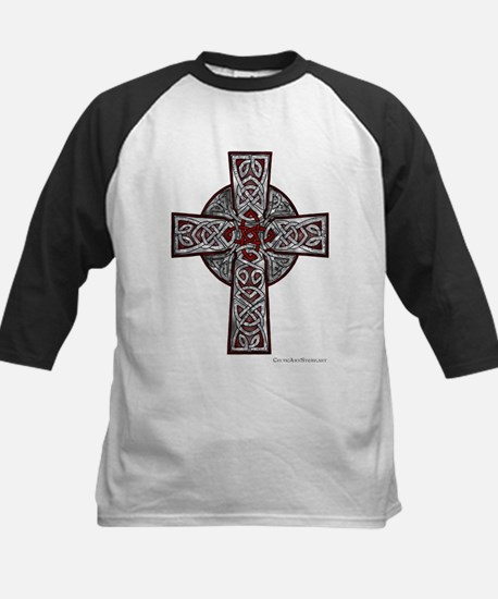 Traditional Celtic Cross Red Baseball Jersey