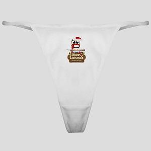 Merry Christmas Owl Classic Thong