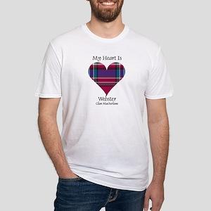 Heart-Webster.MacFarlane Fitted T-Shirt