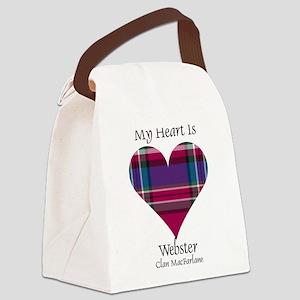 Heart-Webster.MacFarlane Canvas Lunch Bag