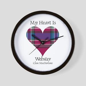Heart-Webster.MacFarlane Wall Clock