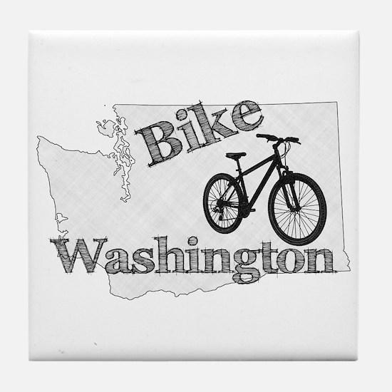 Bike Washington Tile Coaster