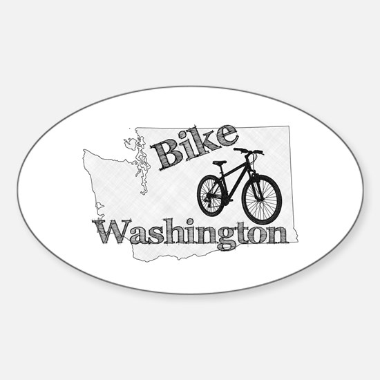 Bike Washington Sticker (Oval)