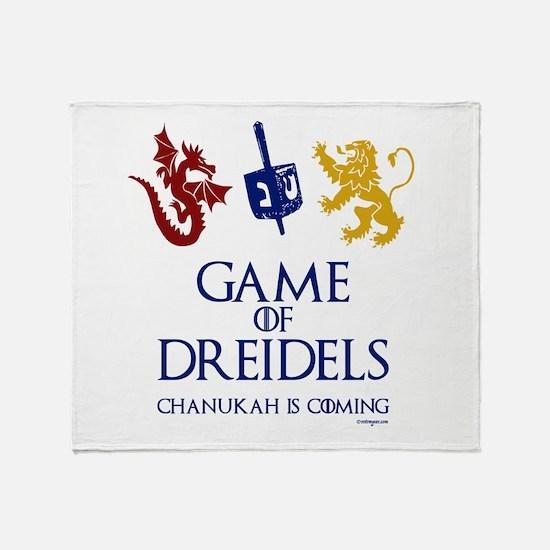 Game of Dreidels Throw Blanket